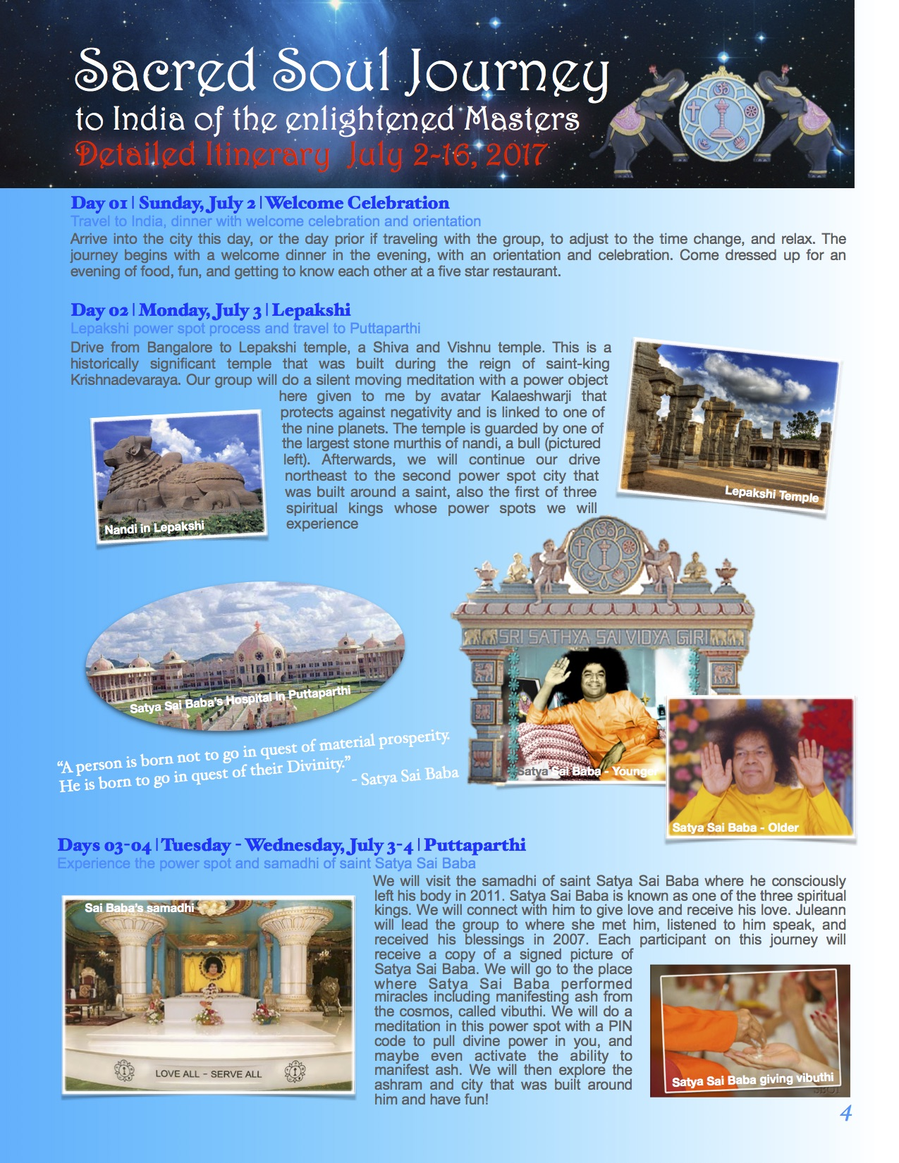 2017 India Power Journey Itinerary Page 4